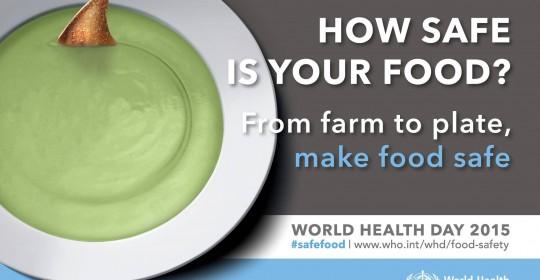 Ziua Mondială a Sănătății 2015: cinci reguli pentru siguranța alimentației
